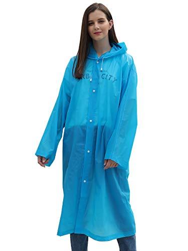 Water-Resistant Disposable Rain Jacket Coat (No Pocket-Blue) for $<!--$7.59-->