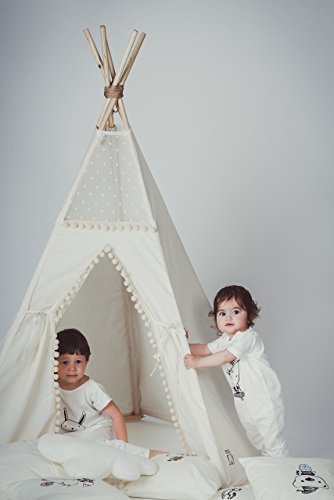 Boho 5 pole teepee tent for kids children playhouse for indoor and outdoor using  sc 1 st  Amazon.com : childrens teepee tents - memphite.com
