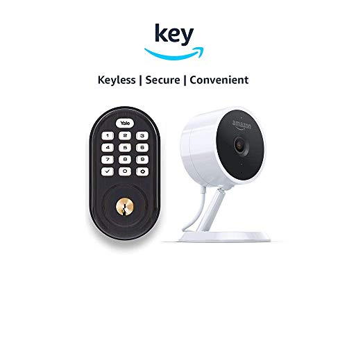 Yale Assure YRD216 Lock Push Button Deadbolt + Amazon Cloud Cam | Key Smart Lock Kit (Oil-Rubbed Bronze)
