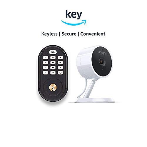 Yale Assure YRD216 Lock Push Button Deadbolt + Amazon Cloud Cam | Key Smart Lock Kit (Oil-Rubbed Bronze)