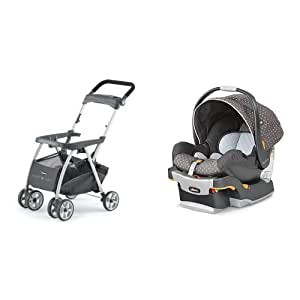 Chicco Keyfit Infant Car Seat and Base with Car Seat with Caddy, Lilla