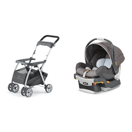 Chicco Keyfit Infant Car Seat and Base with Car Seat with Caddy, Ombra
