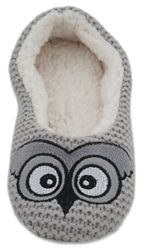 Zest Chaussons Grey pour Owl femme rBqrYv