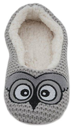 Chaussons pour Owl Grey femme Zest aPdqa