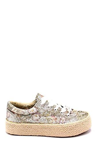 Donna Scarpe Sneakers Cafè Cafènoir Platform Noir Lacci Dh904 Multicipria Argento Corda qwACqX1x