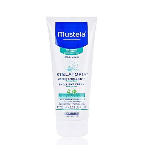 Hidratante para Pele Atópica e Seca Creme Emoliente, sem Perfume, Mustela Stelatopia, Azul, Médio/200 ml