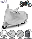 Fabtec Waterproof Bike Body Cover for Yamaha FZ S with Storage Bag Combo (Black)