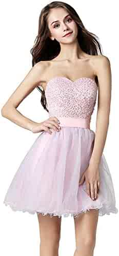 1637f5f419d9 Belle House Junior's Lace Short Prom Party Ball Gowns Sweetheart Homecoming  Dresses
