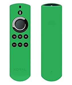 Koral Case for Alexa Voice Remote for Fire TV Stick, Fire TV Streaming Media Player, and Fire TV Cube (Glow Green)