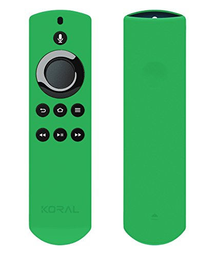 Glow Remote - Koral Case for Alexa Voice Remote for Fire TV Stick, Fire TV Streaming Media Player, and Fire TV Cube (Glow Green)