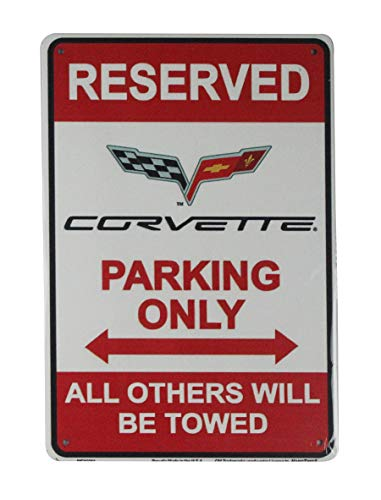 - WholesaleSarong Reserved Corvette Parking Only tin Metal Sign Garage Wall Decals Wall Plaque
