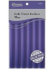 Annie Soft Twist Rollers, Purple, 7 Inch, 10 Count