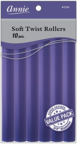(Annie Soft Twist Rollers, Purple, 7 Inch, 10 Count)
