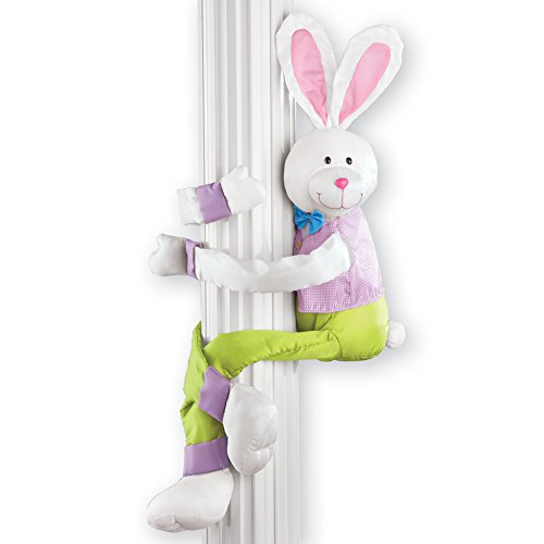 Collections Etc Easter Bunny Hugger with Posable Arms]()