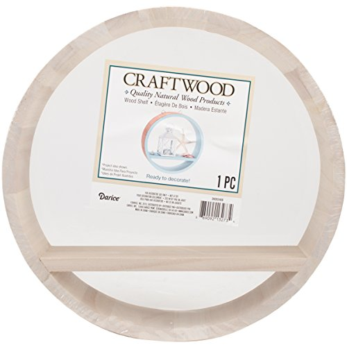 Craftwood Round Wood Shelf inches