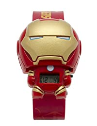 BulbBotz Marvel 2021142 Iron Man Kids Light Up Watch | red/gold | plastic | digital | LCD display| boy girl | official