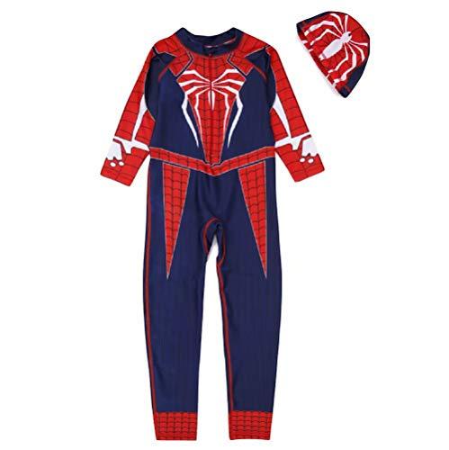 Happy angel Boys Spiderman Swimsuit Swimwear for Boys One Piece Bathing Suit Beach wear(Deepblue,XXL)]()