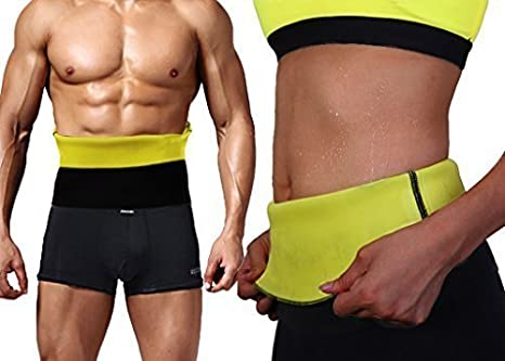 9c405d5c7c OGM Hot Shapers Sweat Waist Trimmer Fat Burner Belly Tummy Yoga Wrap Black  Exercise Body Slimming Belt  Amazon.in  Health   Personal Care