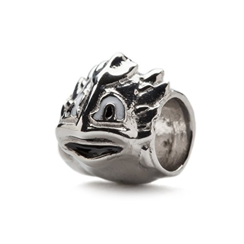 (Texas Christian University Charm | TCU Horned Frogs - Horned Frog Bead Charm | Officially Licensed Texas Christian University Jewelry | TCU Gifts | Stainless Steel)