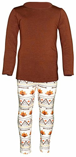 Unique Baby Girls 3 Piece Thanksgiving Tribal Turkey Legging Set (5) by Unique Baby (Image #4)