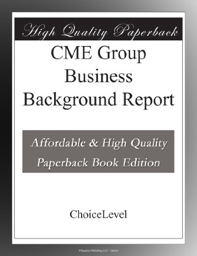 CME Group Business Background Report