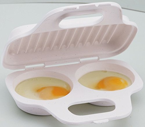 Progressive Microwave Two Egg Poacher Cooker Sandwich Breakfast Gmmc-71