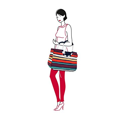 Size Loopshopper Shopping Theme Black Fifties multicolored Bag Reisenthel L Red qFt7p7w