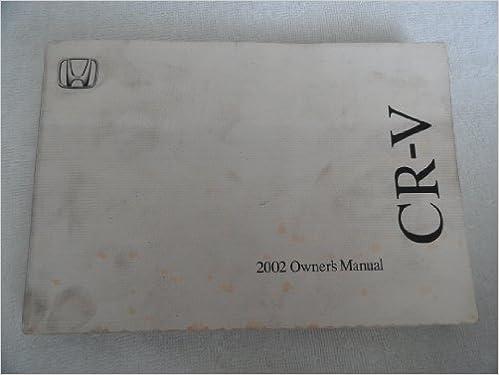 2002 honda crv owners manual