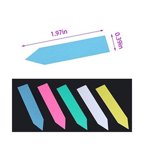 Moliies Riutilizzabili Etichette di Semi di Fiori in plastica Impermeabile per Piante Marcatori Etichette da Giardino… 6 spesavip