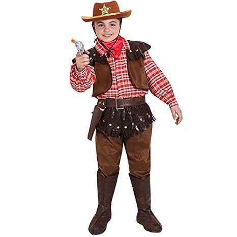 bdce231726d7 VESTITO COSTUME Maschera di CARNEVALE bambino- SCERIFFO - Taglia 10/11 anni  - 123