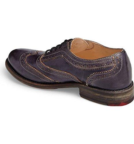 Bed Stu Women's Lita Oxford Shoe, Navy Rustic, 6 M