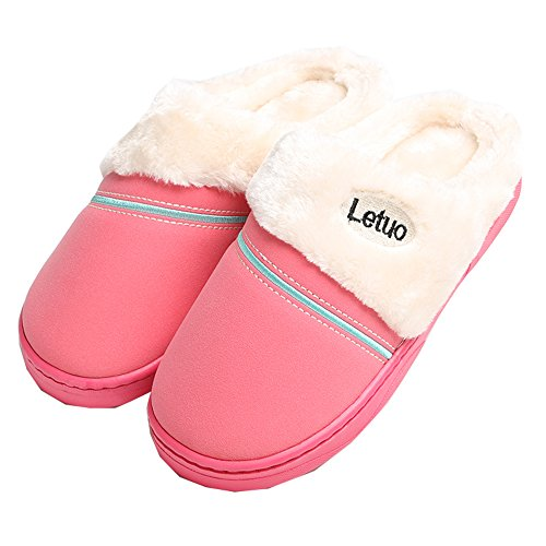 Unisex Colorfulworldstore leather Matte Waterproof Red home boots Women snow slippers amp;cotton qwRUFwB