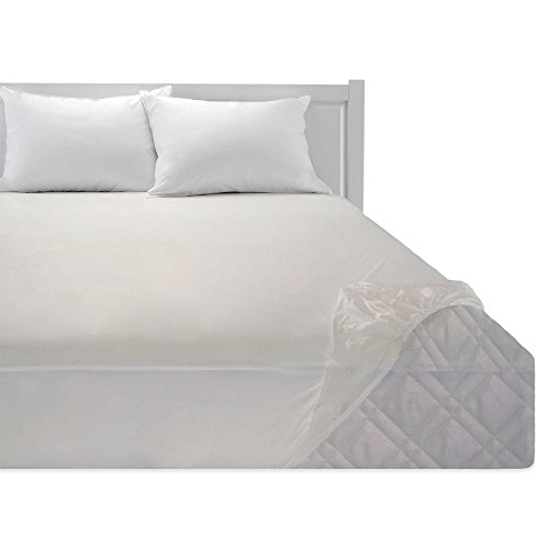 Heavy Duty Vinyl Corner Fitted Twin Bed Mattress Cover ...