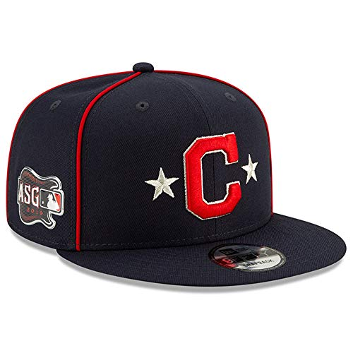 New Era Cleveland Indians 2019 MLB All-Star Game 9Fifty Snapback Adjustable Hat - Navy (Best Mlb Hats 2019)