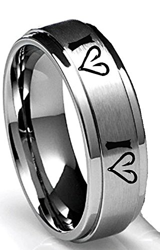 Amazoncom I Love Fishing With Fish Hook Heart Ring By Southern