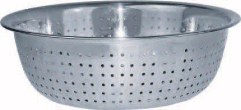 (Winco CCOD-15S Stainless Steel Chinese Colander with 2.5mm Holes, 15-Inch)