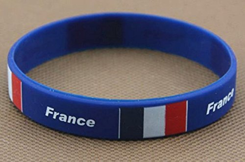 France Wrist Band Flag Logo Fans Silicone Wristband ID Bracelet Bangle Souvenir Gift. 2018 World Cup - Great Gift...