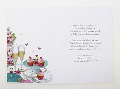 Hermana y cuñado aniversario de boda Tarjeta de felicitación ...