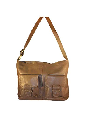 marrón para CODE4FASHION de cruzados Bolso Lisa Piel mujer Tn0fgFn