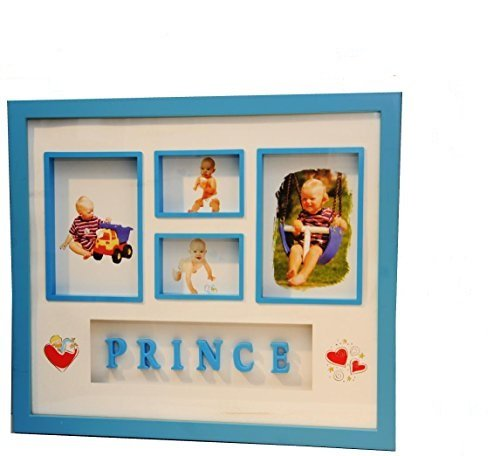 Frame Blue Prince (Prince Section Box Photo Frame, Blue Boy Picture Frame, Plastic, Frame Size: 15.75