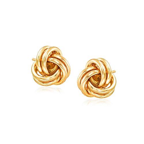 Ross-Simons 14kt Yellow Gold Love Knot Stud Earrings