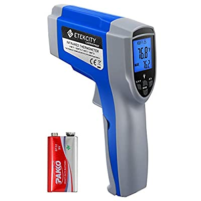 Etekcity Lasergrip Infrared Thermometer Temperature Gun-58?~1022? (-50??550?) (Renewed)