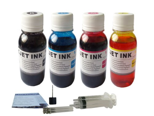 [ND ™ Brand Dinsink 4x400ml Black color refill ink kit for Canon PG-30 40 50 210 210XL 240 240XL 245 245XL 241XL CL-41 Printer cartridge 4 syringes.The item with ND Logo!] (Cl 41 Ink Refill)