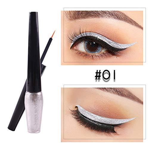Glitter Eyeliner Waterproof Liquid PencilsEyeliner Shining Shimmer Eyeshadow Cosmetics Tool Light Green by WGRTT