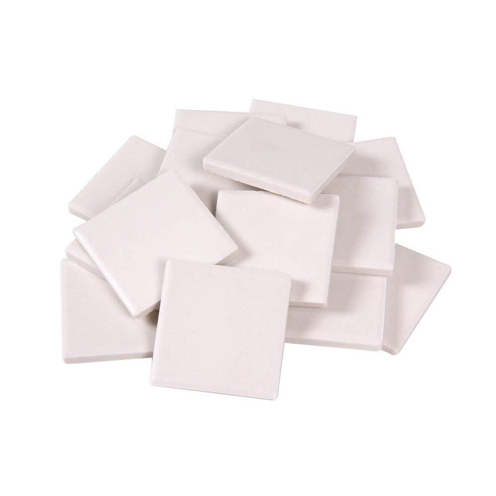 hand2mind White Streak Plates, Geology Tools, Streak Plates for Minerals, Mineral Test Kit for Geology, Lab Equipment, Science Supplies, School Lab Supplies, Teacher Supplies (Pack of 10)