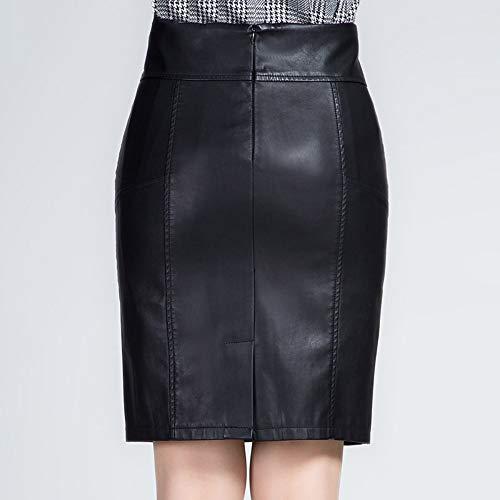 Qzbtu Cuero Alta De Negro Cintura Xl Pu Falda Ocupación Mujer Faldas Lápiz Invierno Trabajo rRAY6rq