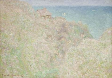 [Oil Painting 'The Coastguard Cabin At Varengeville, 1897 By Claude Monet' 18 x 26 inch / 46 x 66 cm , on High Definition HD canvas prints is for Gifts And Home Office, Home Theater And Kids Ro] (Coast Guard Costumes For Kids)