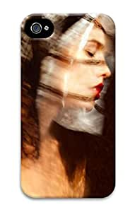 3D PC Case Cover for iPhone 4 Custom Hard Shell Skin for iPhone 4 With Nature Image- Pretty Woman