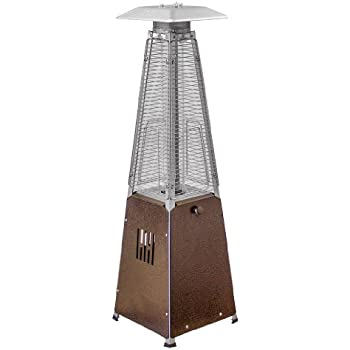 AZ Patio Heaters HLDS032 GTTHG Portable Table Top Glass Tube Patio Heater,  Bronze