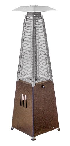 AZ Patio Heaters HLDS032-GTTHG Portable Table Top Glass Tube Patio Heater, Bronze (Gas Patio Heaters Glass Tube)